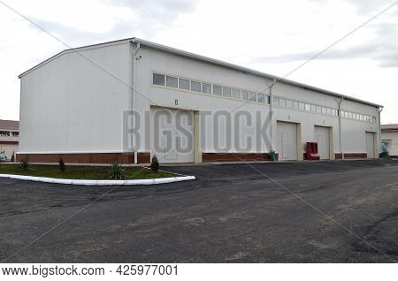 Modern Industrial One Storey Building Of A Pharmaceutical Factory, Uzbekistan, March 3, 2021