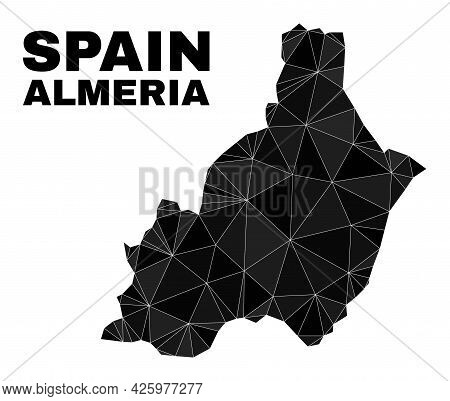 Low-poly Almeria Province Map. Polygonal Almeria Province Map Vector Combined With Chaotic Triangles