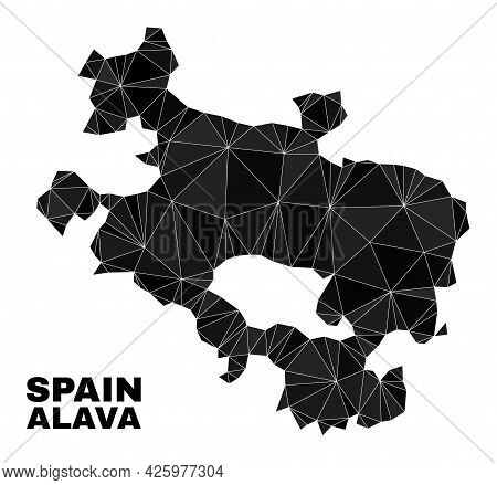 Low-poly Alava Province Map. Polygonal Alava Province Map Vector Is Combined Of Chaotic Triangles. T