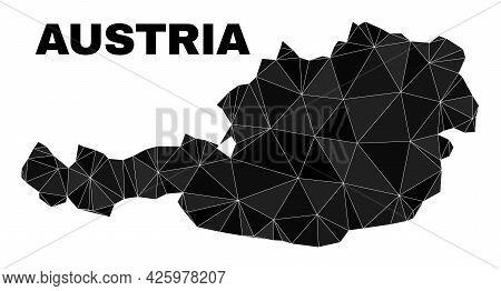 Low-poly Austria Map. Polygonal Austria Map Vector Combined Of Random Triangles. Triangulated Austri