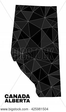 Lowpoly Alberta Province Map. Polygonal Alberta Province Map Vector Is Designed Of Randomized Triang