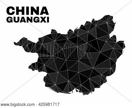 Lowpoly Guangxi Province Map. Polygonal Guangxi Province Map Vector Is Combined Of Random Triangles.