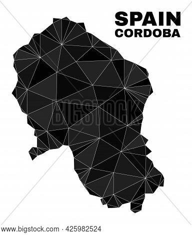 Low-poly Cordoba Spanish Province Map. Polygonal Cordoba Spanish Province Map Vector Is Filled With