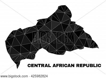 Lowpoly Central African Republic Map. Polygonal Central African Republic Map Vector Is Combined From