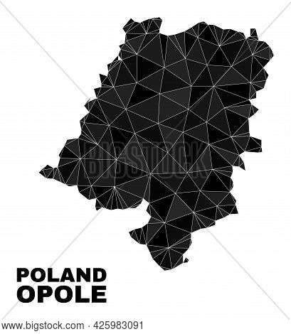 Lowpoly Opole Voivodeship Map. Polygonal Opole Voivodeship Map Vector Combined Of Chaotic Triangles.