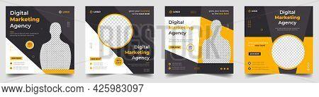 Digital Marketing Social Media Post Banner Template Set, Social Media Post Banner Design Template. B