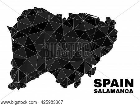 Lowpoly Salamanca Province Map. Polygonal Salamanca Province Map Vector Combined Of Chaotic Triangle