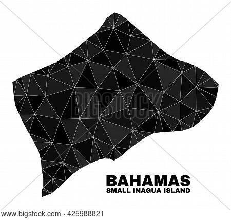 Lowpoly Small Inagua Island Map. Polygonal Small Inagua Island Map Vector Constructed With Randomize