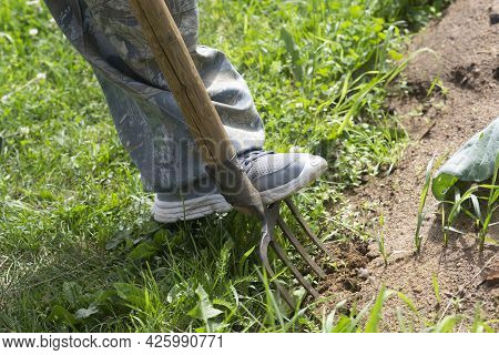 A Shovel For Carrying Out Work In The Garden And Infield.