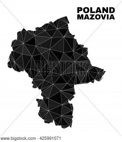Low-poly Masovian Voivodeship Map. Polygonal Masovian Voivodeship Map Vector Is Constructed From Ran