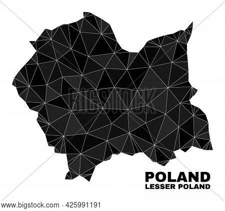 Lowpoly Lesser Poland Voivodeship Map. Polygonal Lesser Poland Voivodeship Map Vector Is Constructed