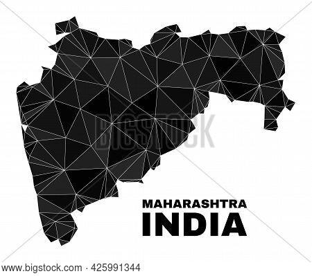 Lowpoly Maharashtra State Map. Polygonal Maharashtra State Map Vector Designed From Random Triangles