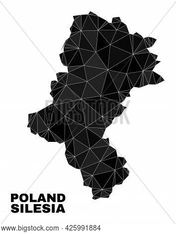 Low-poly Silesian Voivodeship Map. Polygonal Silesian Voivodeship Map Vector Constructed With Random