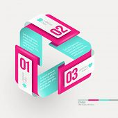 Vector abstract shape with infographics elements poster