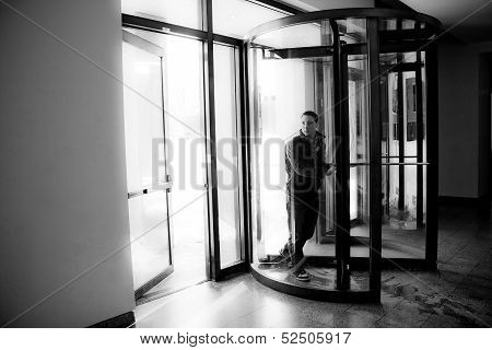 Revolving Door Entrance