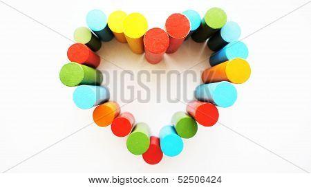 Multicolored love.