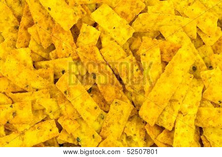 Corn Chip Strips Background