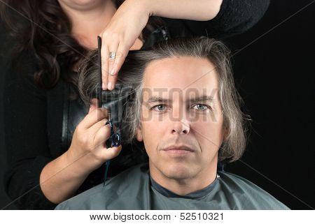 Man Getting Long Hair Cut Off For Cancer Fundraiser