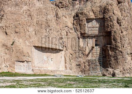 Naqsh-e Rustam Tomb of Persian Kings in Fars province Iran poster