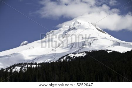 Close Up Of Mount Hood