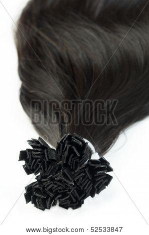 Dark hair extensions
