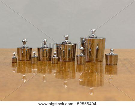 Set of exemplary weights.