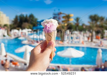Ice Cream And Summer Background