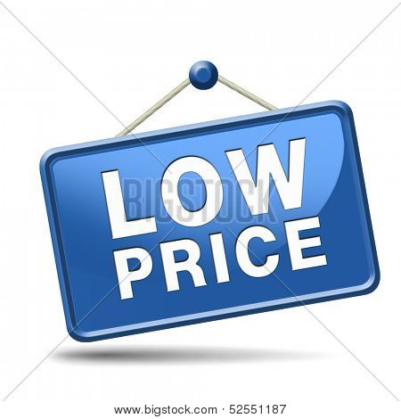 Bargain and discount low sales prices