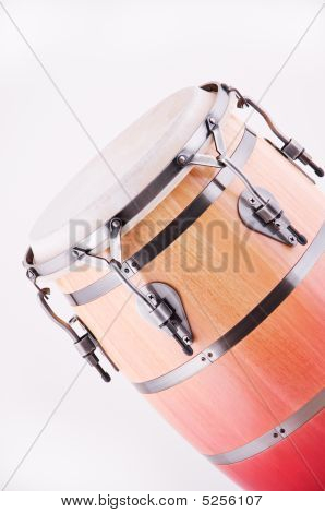 African Conga Drum Isolated On White