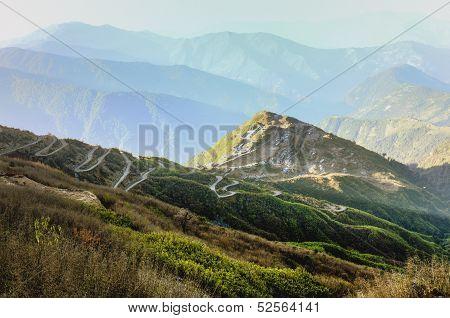 Panoramic View Of Silk Route, Sikkim