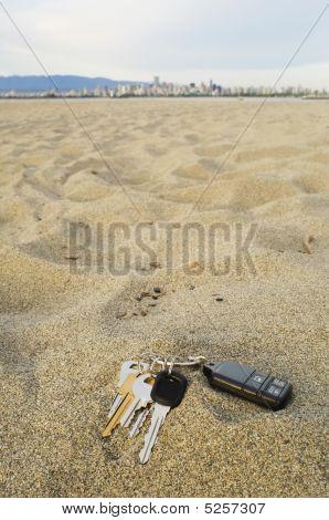 Lost car and house Keys At Beach