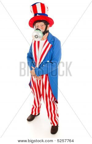 Uncle Sam In Gas Mask - Full Body