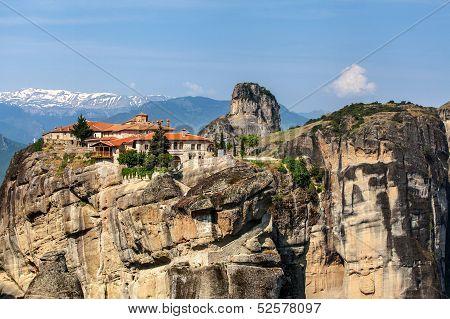 Meteora Monasteries In Trikala Region In Summer, Greece.