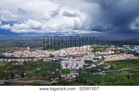 Overview Of Castelo De Vide