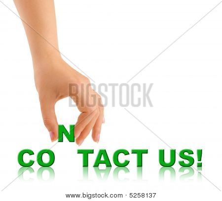 Hand And Words Contact Us