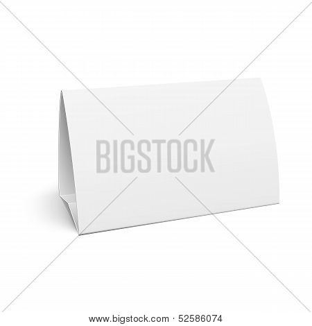 Paper table card.