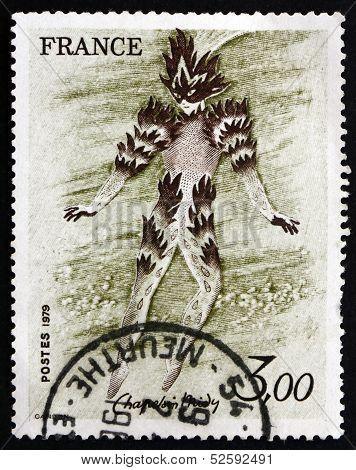 Postage Stamp France 1979 Fire Dancer