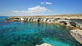 Sea Caves, Cape Greko, Agia Napa, Cyprus, Europe poster