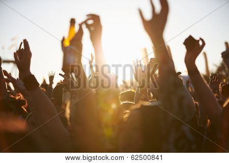 Crowds Enjoying Themselves At Outdoor Music Festival poster