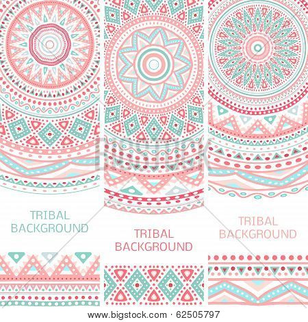 Tribal ethnic vintage banners