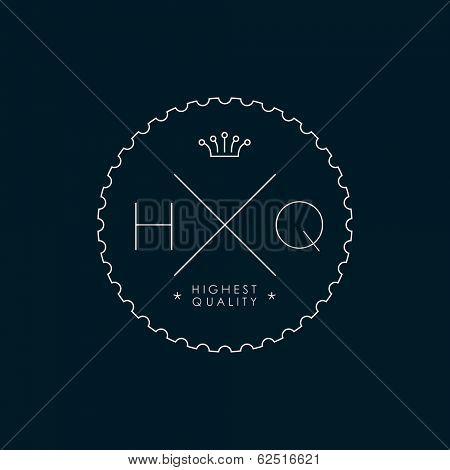 Highest quality minimal badge poster