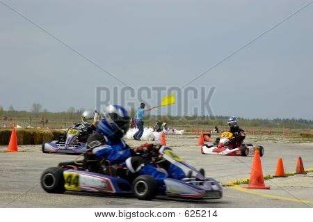 Kart Race Yellow Flag