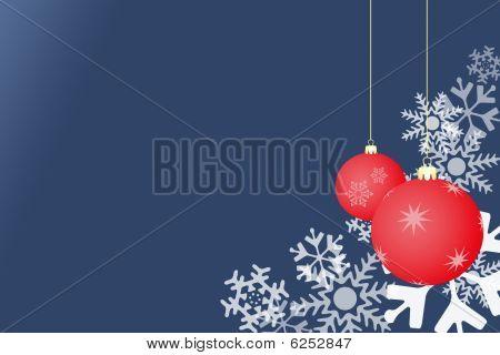 Snowflake Christmas Blue With Balls