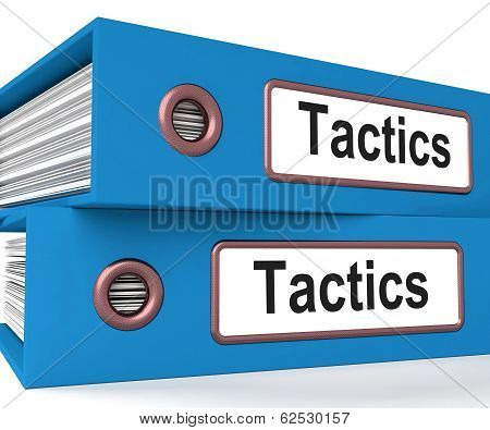 Tactics Folders Showing Organisation And Strategic Methods poster