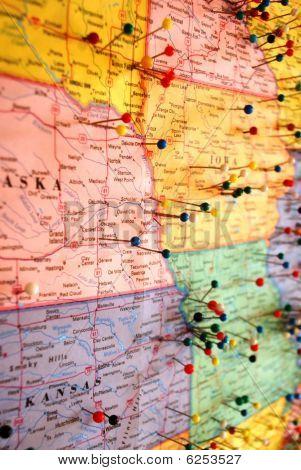 Push pin map