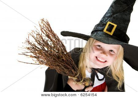 Girl In Witch Costume