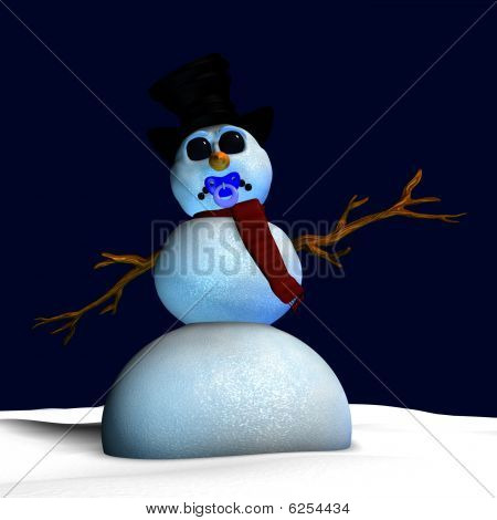 Frosted The Snowman Pacifier