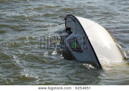 A sunken yacht
