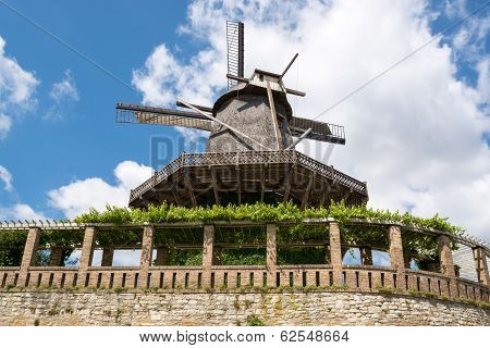 Old Windmill In Sanssouci Park, Potsdam, Germany, Europe