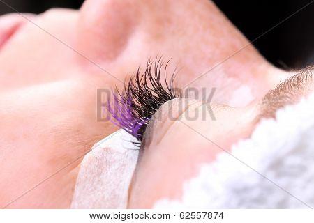 Extremely Long False Eye Lashes, Process